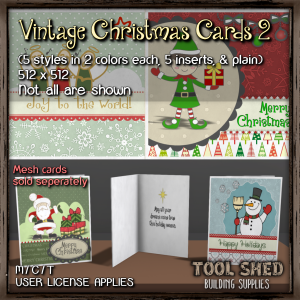 Tool Shed - Vintage Christmas Cards 2 Ad