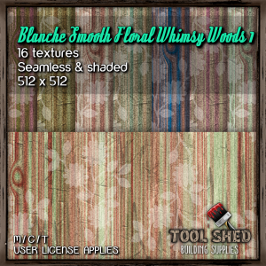Tool Shed - Blanche Smooth Floral Whimsy Woods 1 Ad