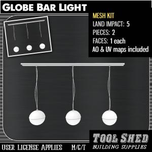 Tool Shed - Globe Bar Light Mesh Kit Ad