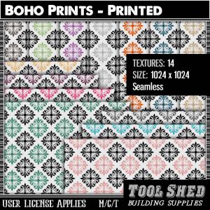 Tool Shed - Boho Prints - Printed Ad