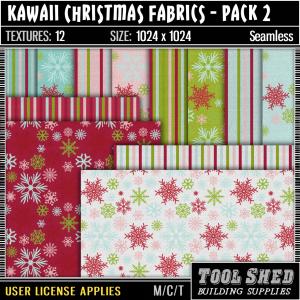 Tool Shed - Kawaii Christmas Fabrics - Pack 2 Ad